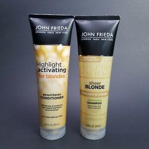 John Frieda Sheer Blonde Highlight Activating Brightening Shampoo & Conditioner