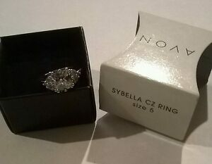 Cubic Zirconia and Sillvertone Ring