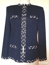 St John by Marie Gray Blue Sweater Size 2