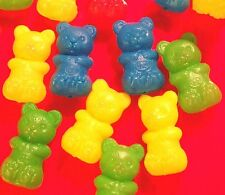 Lot of 40 carnival Teddy Bear Plastic Toys colorful Game Prize Assortment Cute!