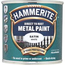 Hammerite Satin Finish Metal Paint White 250ml