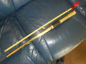 Antique Vintage Telescope medium sized 3 Draw Brass & Leather 25 inches.