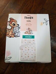 Disney Bambi Thumper Rabbit Floral Double Duvet Cover Set