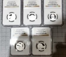 2010 S Silver Quarter 5 Coin Proof Set NGC PF70 UC America The Beautiful ATB 25C
