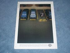 """1998 Harley-Davidson Motorcycle Ad """"...Stands for Something. We Know It."""""""