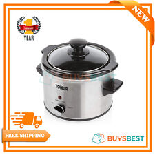 Tower T16020 Slow Cooker With Removable Pot 1.5 Litre 120 W Stainless Steel