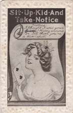 "Woman holding two of clubs, ""Sit-Up-Kid-And-Take-Notice"", 1921"