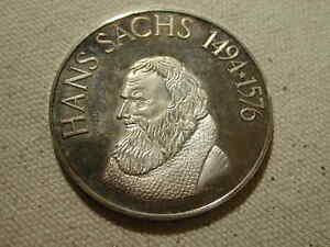 1976 Hans Sachs commemorative coin 42mm