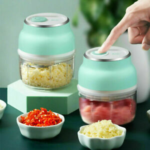 Electric Fruit Vegetable Onion Garlic Cutter Food Speedy Chopper Mini Slicer NEW