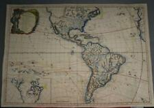 AMERICAN CONTINENT 1788 JEAN-BAPTISTE NOLIN ANTIQUE ORIGINAL COPPER ENGRAVED MAP