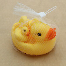 4 Pcs/Set New Baby Shower Classic Bath toy Toys Rubber Squeaky Duck Yellow Pet