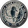 1 Oz Silber 5 Dollar Australien 1991 - Kookaburra - gekapselt  #142
