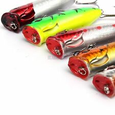 5pcs Artificial Fishing Lure Topwater Floating for Popper Lure Hooks Fishing Tac