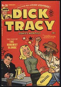 Dick Tracy #36 The Runaway Blonde Harvey Comics 02/51 FN/VF