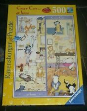 500 PIECE JIGSAW PUZZLE,CRAZY CATS AT HOME,LINDA JANE SMITH,2009