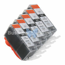 5 PGI-225 BLACK New Compatible Ink Cartridge for Canon PGI-225 PGI225 PGI-225 BK