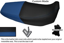 BLACK AND BLUE CUSTOM FITS HONDA XR 125 03-12 DUAL LEATHER SEAT COVER