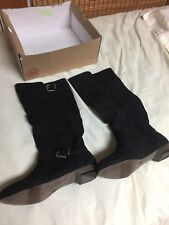 SO Tall Black Buckle Boots Size 6 Womens NEW $80
