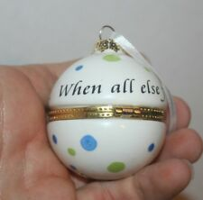 "Roman, Inc 2007 Christmas Ornament "" When All Else Fails "" hand painted"