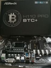 Nueva Asrock H110 Pro BTC + Crypto minería ATX Placa madre