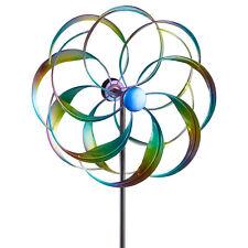 XL Windrad Solar Metall bunt Windmühle Gartenstecker  Windspiel Gartendeko