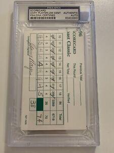 GARY PLAYER JIM DENT Auto Scorecard Emerald Coast Classic 1996 PSA DNA