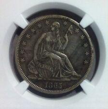 1865-S Seated Liberty Silver Half Dollar  ~ NGC XF 45