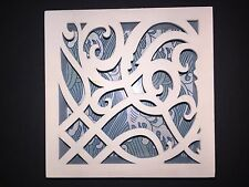 """Demdaco The Nathan Murrell Collection Wave Lattice Shadow Box Plaque 6"""""""