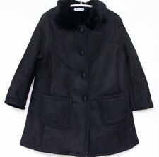 DOLCE AND GABBANA GIRLS BLACK SHEEPSKIN SHEARLING JACKET 3 YEARS