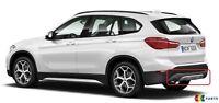 BMW NEW GENUINE X1 SERIES F48 X LINE REAR BUMPER DIFFUSER WITH CHROME TRIM SET