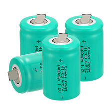 AnmasPower ~ 4 PCS 4/5 Sub C SC 1.2V 1400mAh NiCd Rechargeable Battery ~ Green