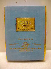 VINTAGE CONGRESS DOUBLE SEALED DECKS BARN PLAYING CARDS HAMPDEN CHEMICAL CO