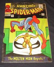 AMAZING SPIDER-MAN #35 FN-/FN (5.5) 12¢ cover Marvel Comic | MOLTEN MAN