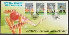 NEW ZEALAND 1994 CENTENARY OF NEW ZEALAND CRICKET FDC FACE VALUE NZ$4.05