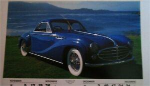 1953 Delahaye Charron Coupe car print (blue)