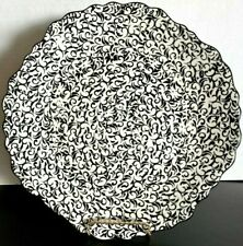 Attingham Black&White Stoneware Plate by Anthropologie All Over Design 11""