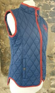 Ladies Requisite Blue and Red Horse Riding Equestrian Gilet Size 8 UK    335