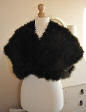Authentic Antique/Vintage Edwardian/1920's Bespoke Black Marabou Feather Cape