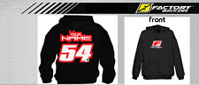 CUSTOM NAME AND NUMBER  HOODIE SWEAT SHIRT MX MOTOCROSS  Style #6