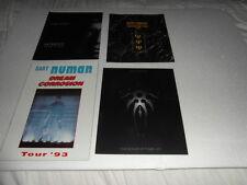 Gary Numan - 4 x 1990's Tour Programmes. A4size unissued,new hardcopy programmes