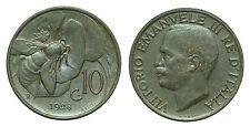 pci0139) Vittorio Emanuele III regno cent 10 APE 1928