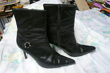 ladies black ankle boots size 7 pointed toes by Principles