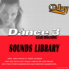 🥇eJay Dance 3 Sounds Library WAV samples and loops keys bass drum voice, guitar