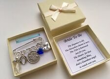 LUCKY SIXPENCE BRIDE WEDDING KILT PIN CHARM / KEEPSAKE GIFT IN A LOVELY GIFT BOX