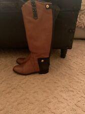 Sam Edelman DARA Saddle & Black Snake Leather Tall Boots - 8.5 M