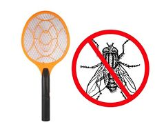 2 x Electric Zapper Trap Bug Bat Fly Mosquito Insect Killer Wasp Swatter Racket
