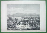 ITALY Sicily View of Palermo & Bay - Antique Print