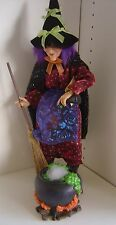"Halloween KSA Collectibles Kurt Adler WITCHY BREW 20"" Fabriche Handpainted WITCH"
