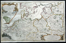 1700 De Fer Large Antique Map of Eastern & Northern Europe - Poland, The Baltics