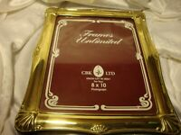 """Frames Unlimited Gold Tone Photo Frame Ornate 8""""x10"""" Photograph Home Decor   384"""